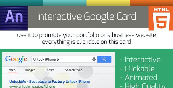 Animated Google Search Business Flip Card