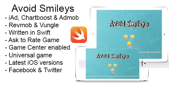 Avoid Smileys Swift iOS 8 Source Code iPad iPhone