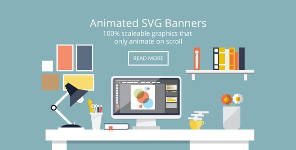 Flat Design Desk Banners - Animated SVG - CodeCanyon Item for Sale