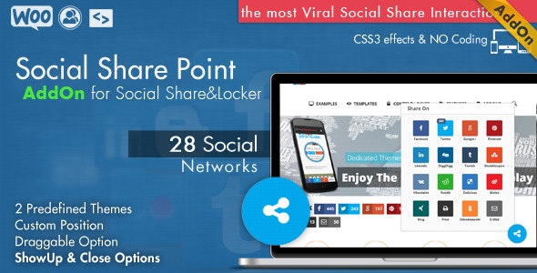 Social Share Point AddOn  - WordPress - CodeCanyon Item for Sale