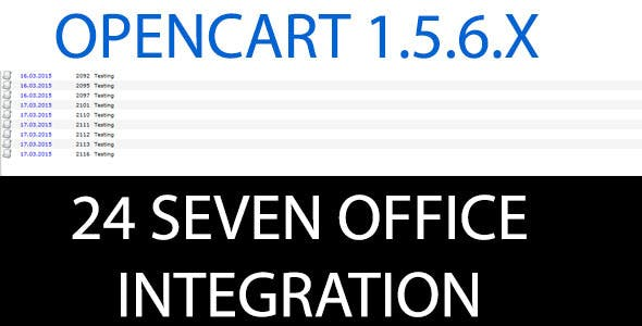 24SevenOffice Opencart Integration