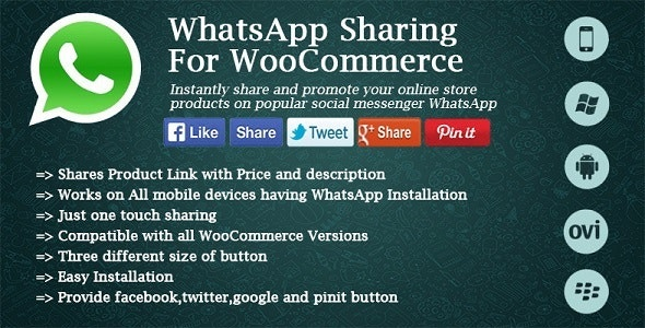 Social & WhatsApp Sharing For WooCommerce - CodeCanyon Item for Sale