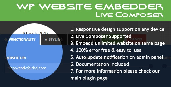 WordPress Website Embedder - Live Composer Addon - CodeCanyon Item for Sale
