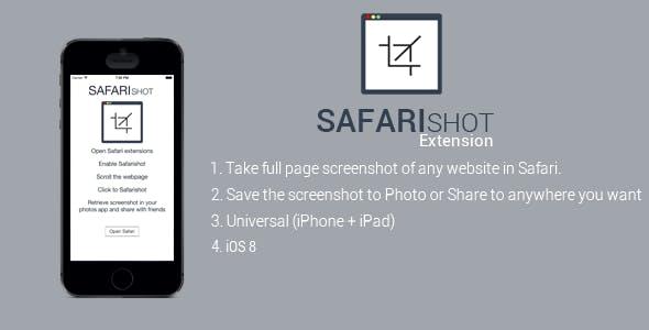 Safari Shot: Webpage Full Screenshot Extension