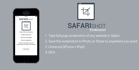 Safari Shot: Webpage Full Screenshot Extension - CodeCanyon Item for Sale