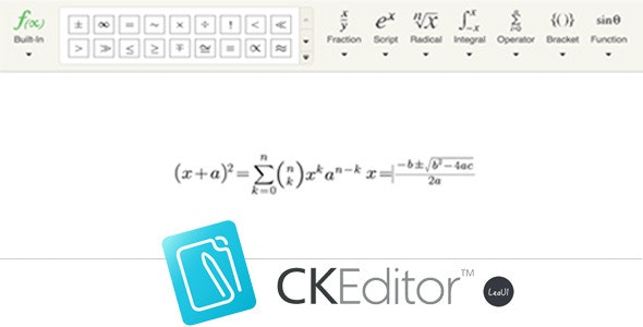CKEditor4 Formula Editor - CodeCanyon Item for Sale