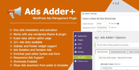 Ads Adder+ - WordPress Ad Management Plugin