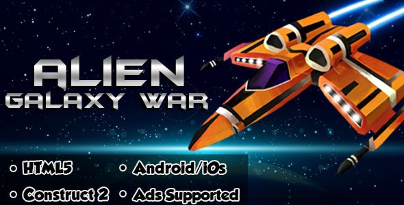Alien Galaxy War - HTML5 Android (CAPX) - CodeCanyon Item for Sale