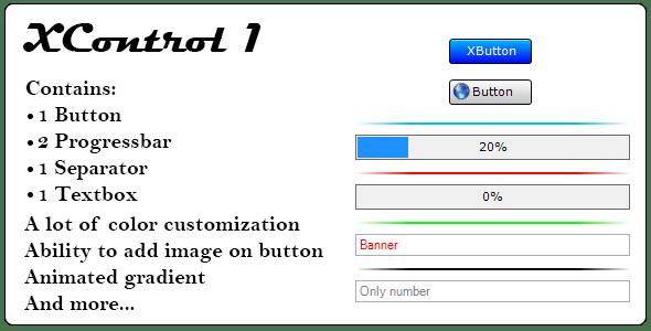 XControl 1, .Net custom control - CodeCanyon Item for Sale
