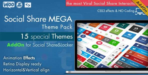 Social Share Mega Theme Pack - WordPress - CodeCanyon Item for Sale