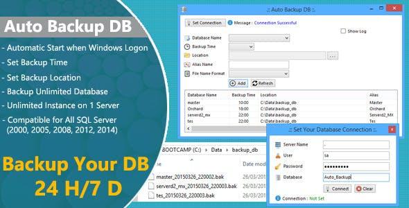 Auto Backup DB for SQL Server