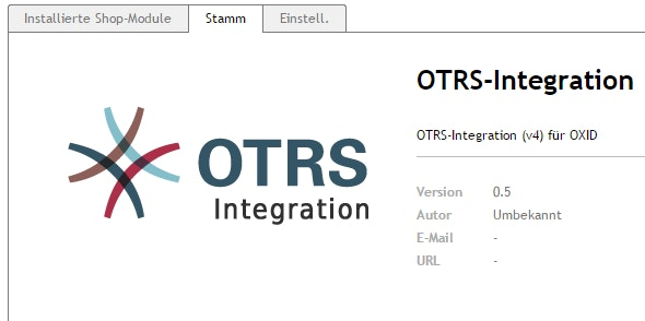 OXID - OTRS Integration - CodeCanyon Item for Sale