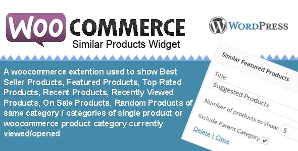 Woocommerce Similar Category Products Widget - CodeCanyon Item for Sale