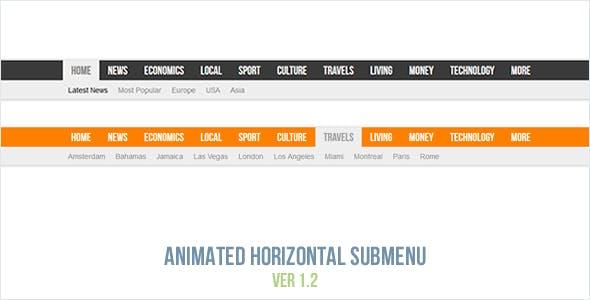 Animated Horizontal Submenu