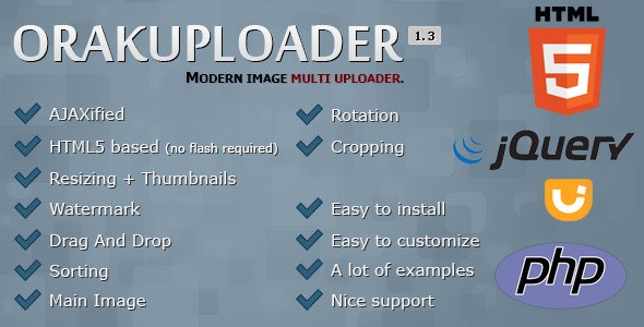 OrakUploader - Modern Image Multi Uploader - CodeCanyon Item for Sale