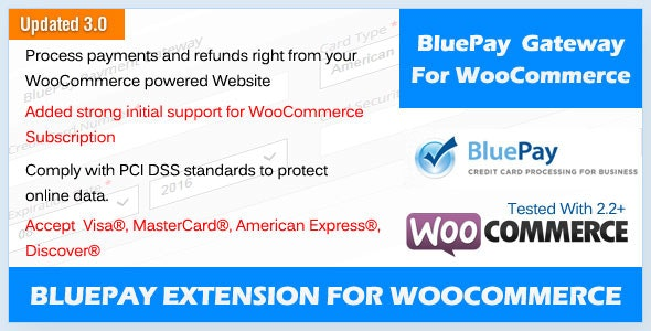 BluePay Payment Gateway For WooCommerce - CodeCanyon Item for Sale