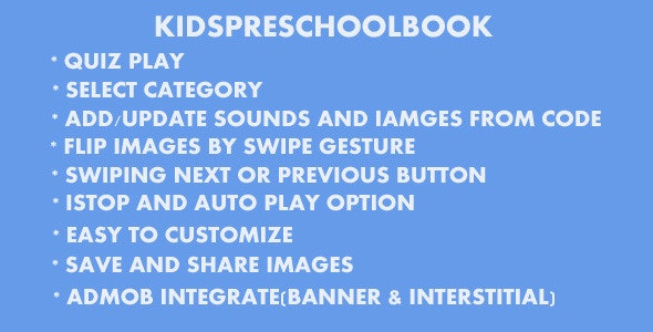 Kids PreSchool Book - CodeCanyon Item for Sale