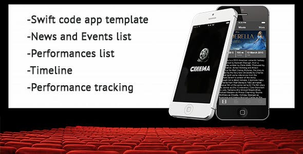 Swift Cinema/Theatre Performances App Template