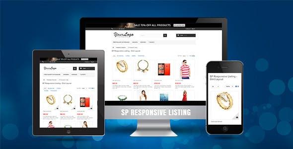 SP Responsive Listing - Prestashop Module