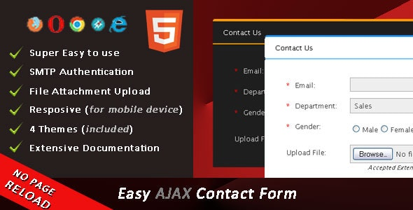 Easy AJAX Contact Form - CodeCanyon Item for Sale