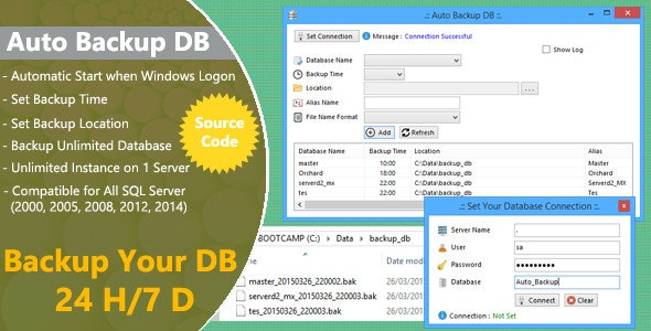 Auto Backup DB for SQL Server with Source Code - CodeCanyon Item for Sale