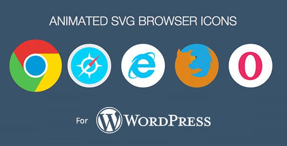 Animated SVG Browser Icons - WordPress Plugin