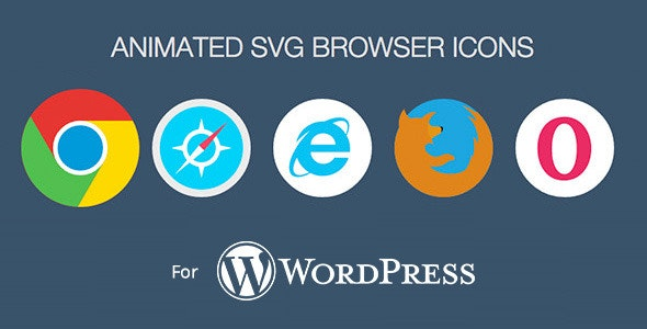 Animated SVG Browser Icons - WordPress Plugin - CodeCanyon Item for Sale