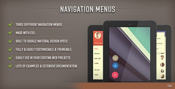 Navigation Menus (CSS) - CodeCanyon Item for Sale