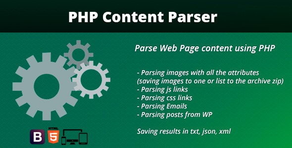 PHP Content Parser - CodeCanyon Item for Sale