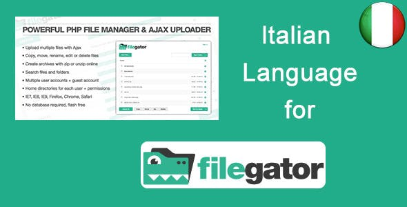 Italian Language for FileGator