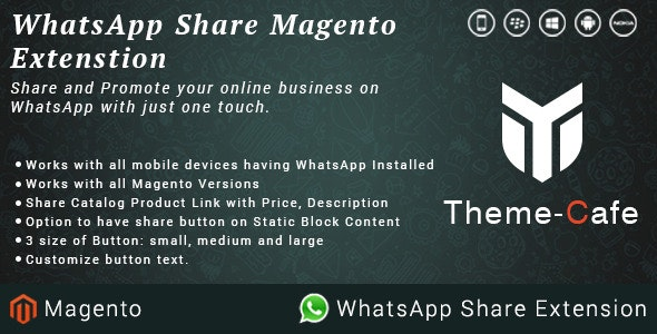 Whatsapp Share Magento Extension - CodeCanyon Item for Sale