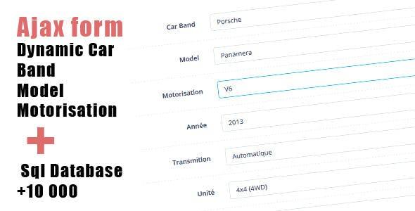 Dynamic Car Manufacturer/Model/Engine + Database