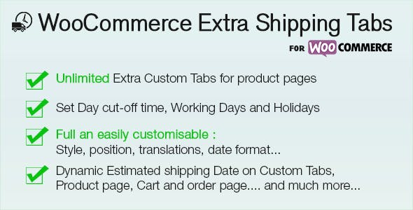 WooCommerce Shipping Extra Tabs