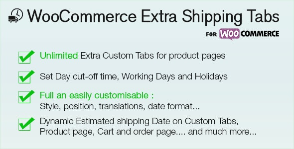 WooCommerce Shipping Extra Tabs - CodeCanyon Item for Sale