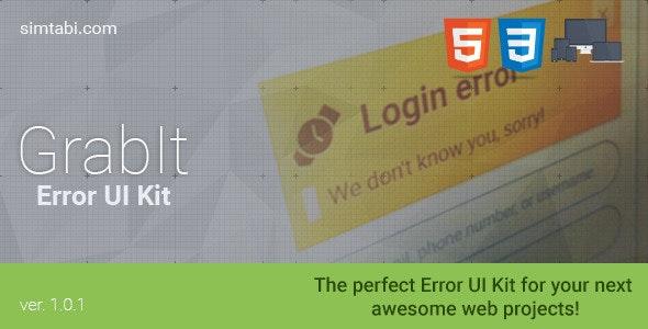 GrabIt Error UI Kit - CodeCanyon Item for Sale