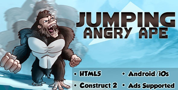 Jumping Angry Ape - HTML5 Android (CAPX) - CodeCanyon Item for Sale