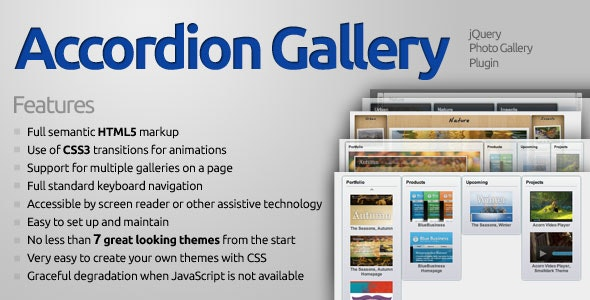 Accordion Gallery - CodeCanyon Item for Sale