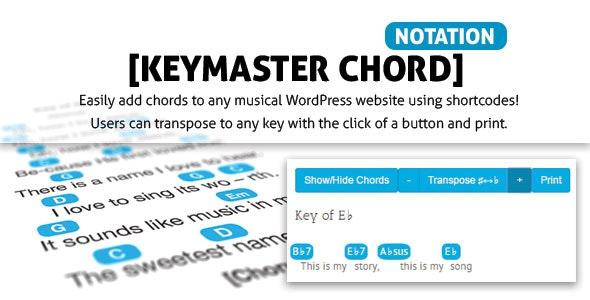 Keymaster Chord Notation - CodeCanyon Item for Sale
