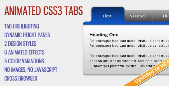 CSS Tabs & Sliders from CodeCanyon