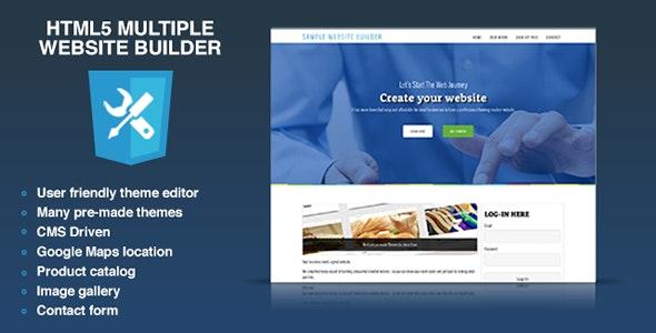 HTML5 multiple website builder - Multisite CMS - CodeCanyon Item for Sale