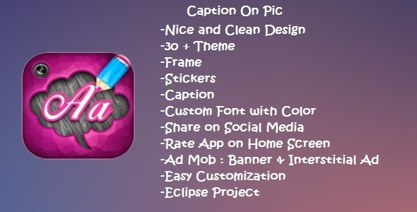 Caption On Pic - CodeCanyon Item for Sale