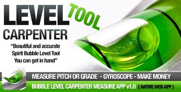 Bubble Level App - Carpenter Measure Tool - CodeCanyon Item for Sale