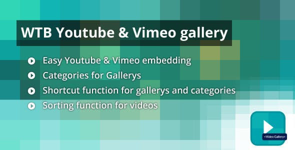 WTB Youtube & Vimeo Gallery