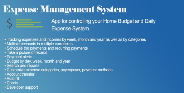 Daily Expense Management System - CodeCanyon Item for Sale