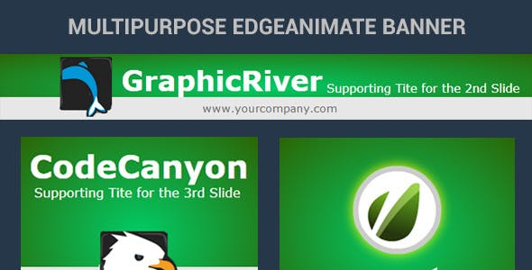 Edge Animate Banner Template - 01