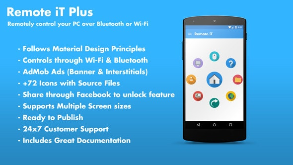 Remote iT Plus 2.0 - Control your PC + Admob + Share - CodeCanyon Item for Sale