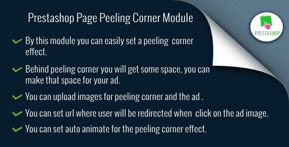 Prestashop Page Peeling Corner