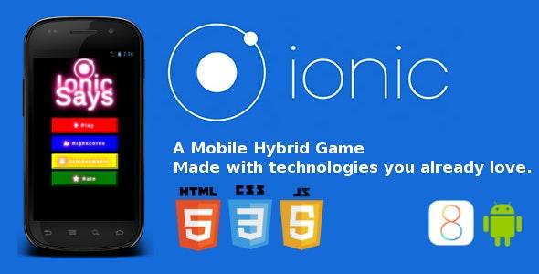 Ionic Says, a Hybrid Simon Says Game - CodeCanyon Item for Sale