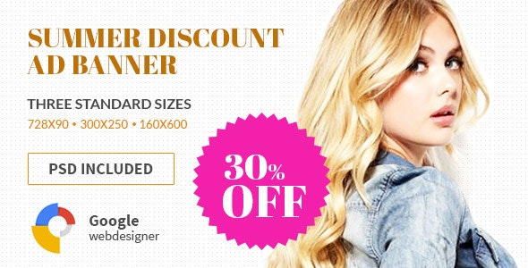 Shopping Discount | HTML5 Google Banner Ad - CodeCanyon Item for Sale