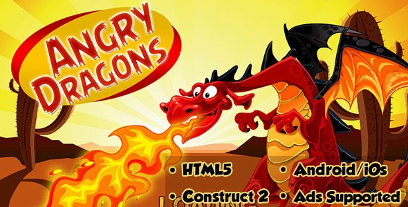 Angry Dragons - HTML5 Android (CAPX) - CodeCanyon Item for Sale